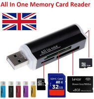 High Speed All IN1 USB Memory Card Reader Adapter For Micro SD MMC SDHC TF M2 MS