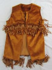 Vtg 50s Texson 100% Rayon Fringe Vest Rockabilly Western Cowboy Sz 16 Rare!