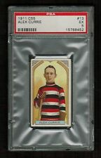 PSA 5  ALEX CURRIE 1911 C55 Hockey Card #13