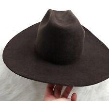 Nosotros Mens Womens Western Cowboy Hat 55cm 6 7/8 Brown F1