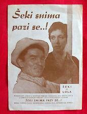 SHEKI SNIMA,PAZI SE! 1962 SEKULARAC SOCCER RED STAR ZVEZDA EXYU MOVIE PROGRAM