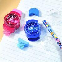With Brush Stationery Pencil Sharpener Eraser Creative Cartoon Watches Design