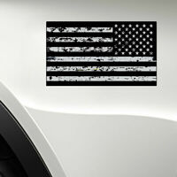 Distressed Black American Flag Sticker Decal Subdued USA Car Truck Grunge New x2