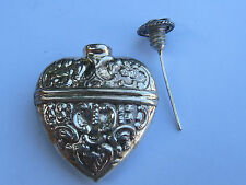 HEART SHAPED  STERLING SILVER CHATELAINE PERFUME PENDANT #2- NEW (LAST ONES!!)