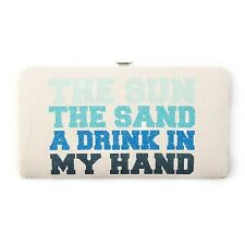 The Sun The Sand A Drink in My Hand Hardcase Wallet - NWT