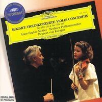 Mozart - Violin concertos No.3&5.Anne Sophie Mutter New CD Deutsche Grammophon