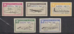 Cinderella   Guernsey Alderney  Flugzeuge  geschnitten  -  5 Werte  **
