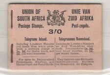 South Africa 1921 KGV 3/- Booklet (Missing 6 1 1/2d Otherwise Complete) J6328