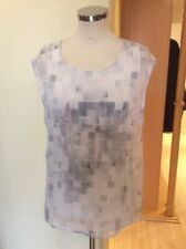 Riani Top Size 12 Cream Pink Grey Layered Now