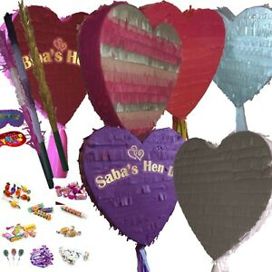 Love Heart Pinata & candies wedding Anniversary Valentines Party Slumber Hen Do