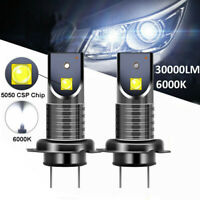 2Pcs H7 110W LED Headlights Conversion Kit 30000LM 6000K Error Free Canbus Bulbs
