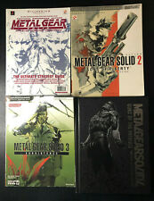 Metal Gear Solid Strategy Guide Lot 1, 2, 3, 4 - NICE - RARE - OOP - US SELLER