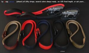 LUIGI ALL SILKY STRAP+PAD,FIVE COLORS,for LEICA,NIKON,FUJI,ZEISS,UPS INCLUDED!
