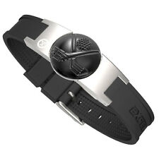 ProExl Golf Magnetic Bracelet Brushed Steel With Crossed Clubs Detachable Marker