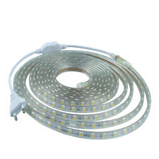 1-10M Waterproof SMD 5050 LED Strip 220V 60 led/m Flexible Tape Rope Party Light