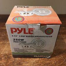 "Pyle 6.5"" PLMRX67 2 Way Marine Speaker System 250W Aqua Pro"