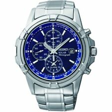 Seiko Analog Business Watch Solar Chronograph Silver Mens SSC141P1
