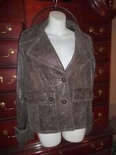 NWT WOMEN'S $985 LEATHER JACKET PREMISE ITALY size Large BLOOMINGDALE'S