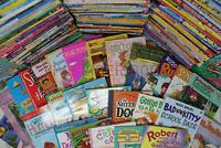 Lot of 25 of Children's Kids Chapter Books  - Random - Free Shipping!