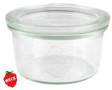 12 x WECK Sturzglas 165 ml RR80, Sturz Glas Marmelade Kuchen Dessert Dip Pesto