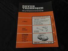 """revue technique automobile-citroen """"d spécial""""-""""d super""""-""""d super 5"""""""