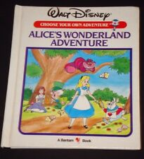 Disney Choose Your Own Adventure Alice's Wonderland CYOA Junior Bantam RL2