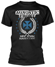 Agnostic Front 'Blue Iron Cross' (Black) T-Shirt - NEW & OFFICIAL!