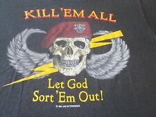 KILL EM ALL LET GOD SORT EM OUT VINTAGE 80S SHIRT SCREEN STARS TAG HEAVY METAL