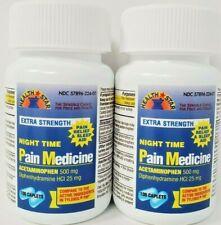 Nighttime Pain Medicine Acetaminophen PM, 100ct, 2 Pack (Generic Tylenol PM)