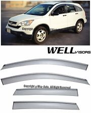 For 07-11 CRV WellVisors Side Window Visors w/ Chrome Trim Rain Guard