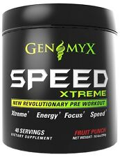 Genomyx Speed Xtreme Fruit Punch - Extreme Energy, Focus, & Speed (40 Servings)