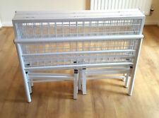 Vegas double 4.6 contract metal folding bed frame in white/ Ivory