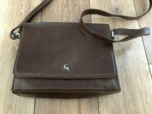 Ashwood Leather Across Body Bag Brown New