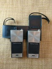 PAIR MATCHING Transistor Radios Realtone Nine 6986 Therm Diode 604.  UNTESTED.