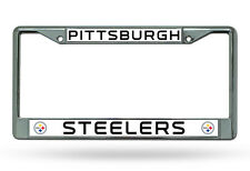 Pittsburgh Steelers Chrome Metal License Plate Frame