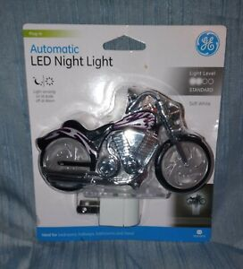 Brand New GE Automatic LED Night Light Motorcycle