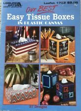 Easy Tissue Boxes in Plastic Canvas Leisure Arts Cross Stitch Pattern #1732