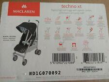 Maclaren Techno XT Buggy Schwarz/Silber NEU