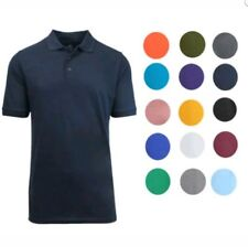 Galaxy by Harvic Men's Short Sleeve  3-Button POLO SHIRT L  ( Set of 5 ) NEW