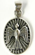 PIGEON BIRD POST MAIL COIN STERLING 925 SILVER PENDANT