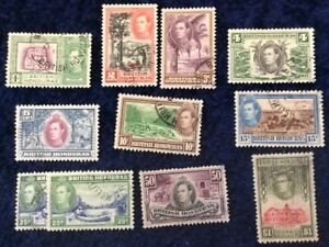 British Honduras 1938 Low Value Definitives F/U SG 150/9 Cat Value £27+ in 2016