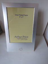 """Arthur Price New & Boxed Silver Plated Photo Frame 7"""" x 5"""" - Baby Boy Motif"""