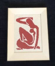 MATISSE inspired Nude Cutout Needlepoint Professionally Framed Beautiful!