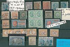 ITALIA REGNO - STORIA POSTALE : LOTTO francobolli con piccole VARIETA' - BELLO!!