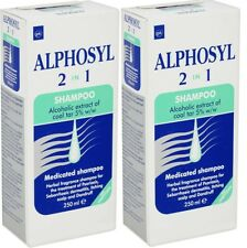 Two Alphosyl 2 in 1 Medicated Shampoo's (250ml)