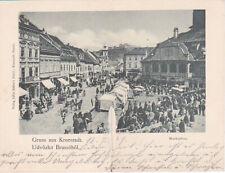 RO: Kronstadt, Marktplatz, Klappkarte, gel 1899