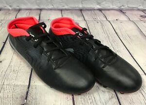 NEW Puma ONE 18.4 FG Jr Soccer Cleat Shoes Color Black Silver Red Size 5.5c NIB