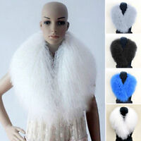 Real Chic Mongolian Lamb Fur Collar Women Top Quality Shawl Scarf Christmas Gift