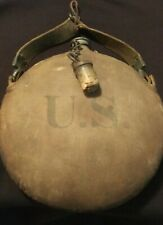 Original Indian Wars Canteen with Chain Cork Spanish American war Us Military