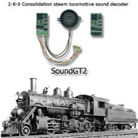 2-8-0 steam locomotive  SoundGT2.1 DCC decoder  for Bachmann TYCO, brass, Bowser